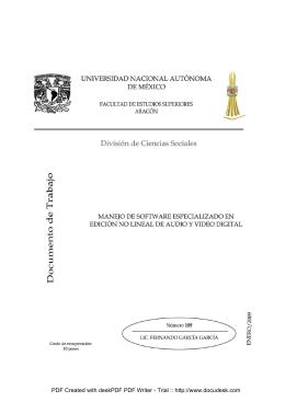 manejo de software especializado en edición no-lineal