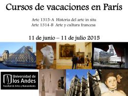 Cursos de vacaciones en París - Arte in situ