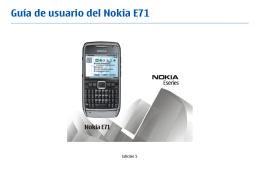 Guía de usuario del Nokia E71