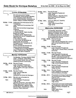 Agenda mayo 2006