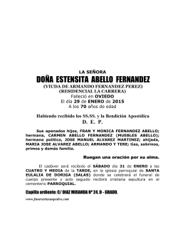 LA SEÑORA - Funeraria San Pedro