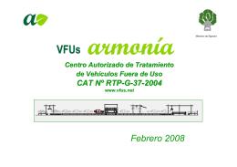 Centro Autorizado de Tratamiento (CAT) de Vehículos Fuera de Uso