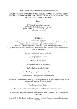 Ley del Estatuto sobre el Régimen de Jubilaciones y Pensiones