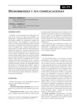 Hemorroides y sus complicaciones. - Sociedad Argentina de Cirugía