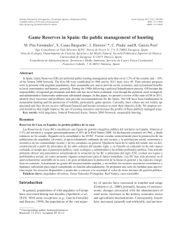 Game Reserves in Spain: the public management of hunting