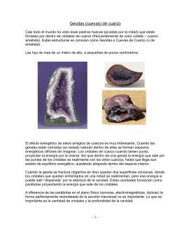 Geodas (cuevas) de cuarzo