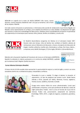 Cursos Idiomas Extranjero Newlink