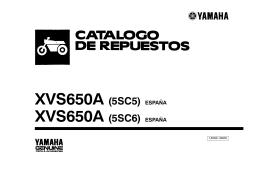 XVS650A (5SC5) ESPAÑA XVS650A (5SC6) ESPAÑA
