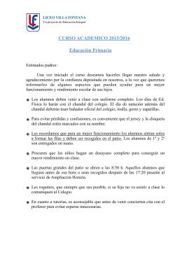 Circular Fechas - Liceo Villa Fontana