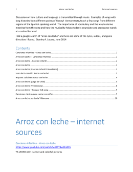 Arroz con leche – internet sources