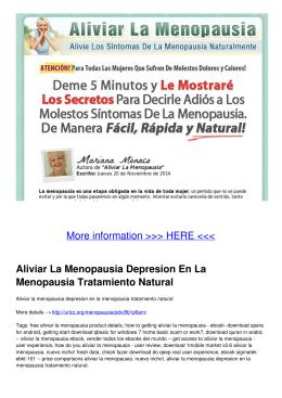 Aliviar La Menopausia Depresion En La Menopausia Tratamiento