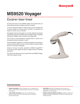 MS9520 Voyager - Honeywell Scanning and Mobility