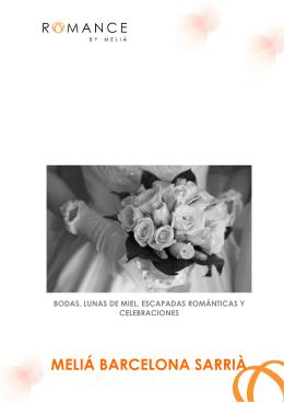bodas en melia barcelona sarria - romance by melia