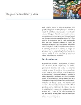 Capítulo IV Seguro de Invalidez y Vida