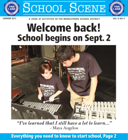 Welcome back! - Middletown City School District