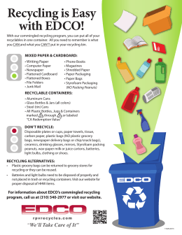 Recycling is Easy with EDCO!