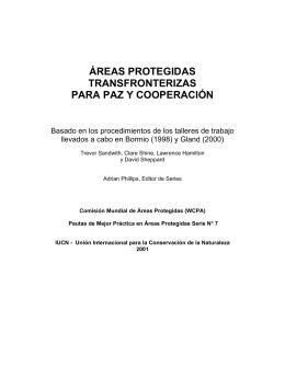 áreas protegidas transfronterizas para paz y cooperación