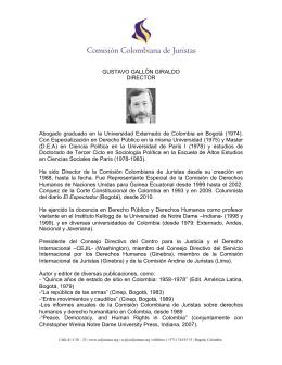 GUSTAVO GALLÓN GIRALDO - Comisión Colombiana de Juristas