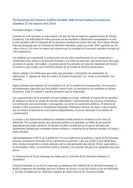 Declaración de Gustavo Gallón Giraldo