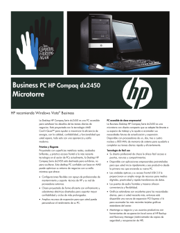 Business PC HP Compaq Serie dx2450 Microtorre