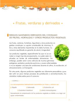 • Frutas, verduras y derivados •