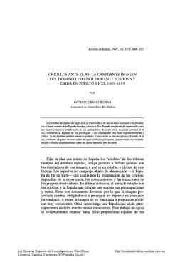 Criollos ante el 98: la cambiante imagen del