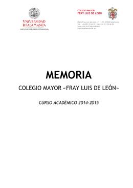 Memoria Actividades CM Fray Luis de León Curso Académic0 2013