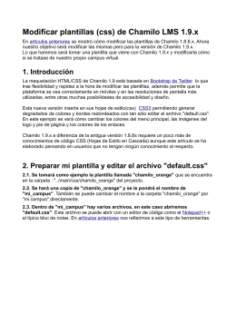 Modificar plantillas (css) de Chamilo LMS 1.9.x
