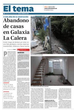 Abandono de casas en Galaxia La Calera