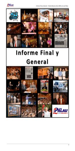 Informe Final y Informe Final y General