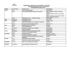 FEDERACION VENEZOLANA DE DEPORTES