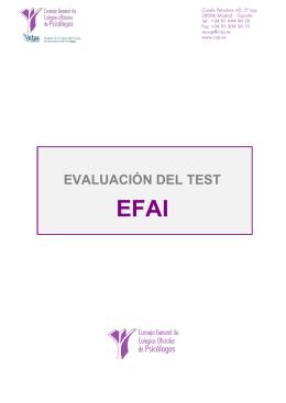 Evaluación Factorial de las Aptitudes Intelectuales