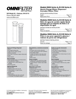 Quick-Change Water Dispenser/ Icemaker Water Filter Filtro de