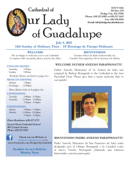 July 5, 2015 - Cathedral of Our Lady of Guadalupe