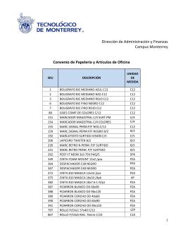 Dirección de Administración y Finanzas Campus Monterrey