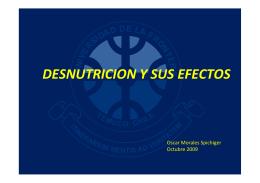 desnutricion y sus efectos - Asociación Chilena de Nutrición Clínica