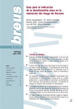 Guía para la indicación de la densitometría ósea