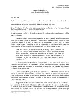 Desnutrición infantil Laura del Carmen Fernández Introducción