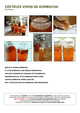 CÓCTELES VIVOS DE KOMBUCHA - Escuela de Cocina Vegetariana