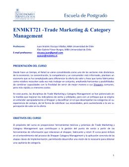 Trade Marketing & Category Management