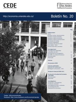 Boletín No. 20 - Facultad de Economía