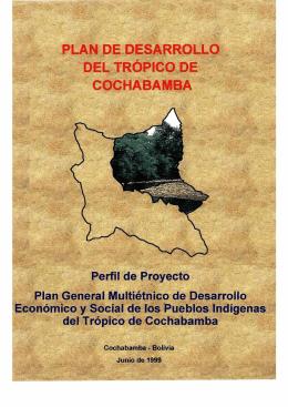 PLAN DE DESARROLLO DEL TRÓPICO DE COCHABAMBA