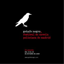 getafe negro, festival de novela policiaca de madrid