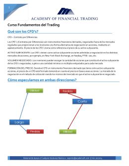 Curso Fundamentos del Trading Qué son los CFD`s?