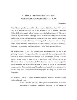 la sebila casandra: gil vicente`s postmodern feminist christmas play