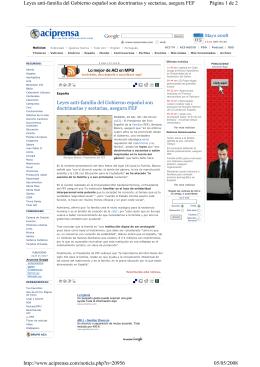 Página 1 de 2 Leyes anti-familia del Gobierno español son