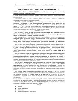 NOM-014-STPS-2000 - Secretaría del Trabajo y Previsión Social