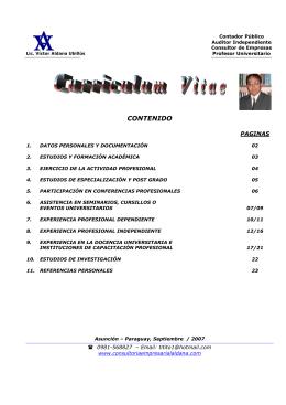 CONTENIDO - Portal de Auditoria
