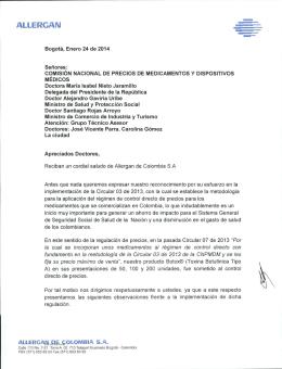 Allergan - Ministerio de Salud y Protección Social