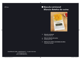 Báscula nutricional Bilancia dietetica da cucina